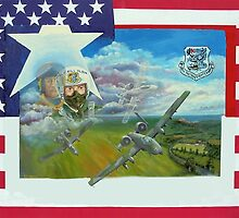A10 pilot ,on flag, no writing by Woodie