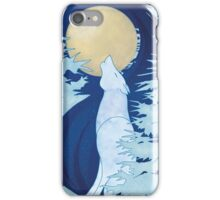 Moon Howling Wolf iPhone Case/Skin