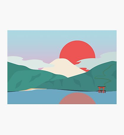 Mt Fuji from Hakone National Park Photographic Print