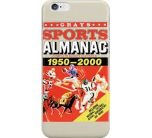 Grays Sports Almanac - Back to the Future iPhone Case/Skin