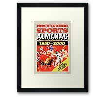 Grays Sports Almanac - Back to the Future Framed Print