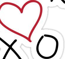 xoxo Heart Red Black Sticker