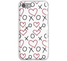xoxo Heart Red Black iPhone Case/Skin