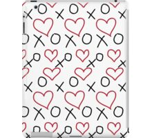 xoxo Heart Red Black iPad Case/Skin