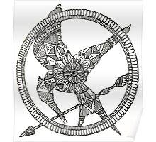 Hunger Games mandala design. Poster