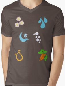 My little Pony - Elements of Harmony Cutie Mark Special V3 (Lunaverse) Mens V-Neck T-Shirt