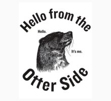 Hello from the Otter Side Baby Tee