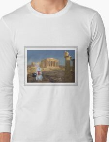 White Rabbit at the Parthenon - Frank Church Composite Long Sleeve T-Shirt