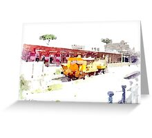 Railway station Greeting Card