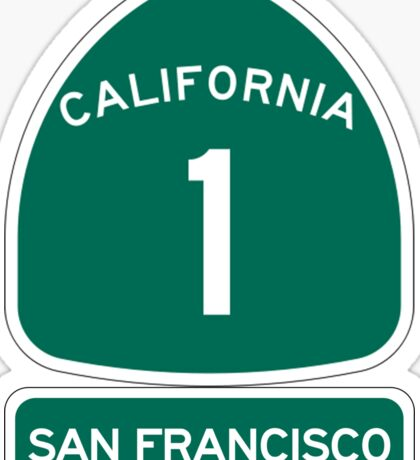 PCH - CA Highway 1 - San Francisco Sticker