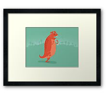 Estemmenosuchus is Ecstatic Framed Print