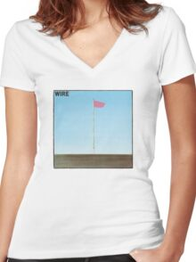 Wire - Pink Flag Women's Fitted V-Neck T-Shirt