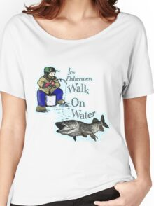 Ice fishing muskie  Women's Relaxed Fit T-Shirt