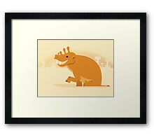 Uintatherium is Upbeat Framed Print