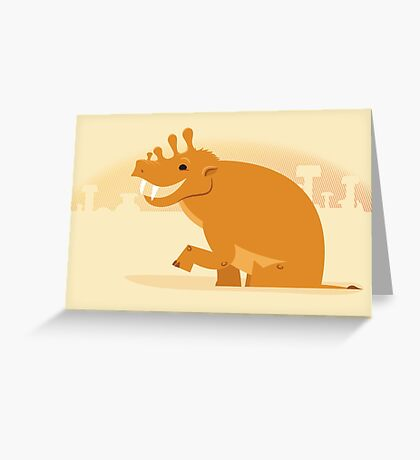 Uintatherium is Upbeat Greeting Card