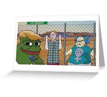 Donald 'Pepe' Trump the Smug Frog Greeting Card