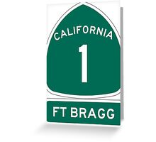 PCH - CA Highway 1 - Ft Bragg  Greeting Card