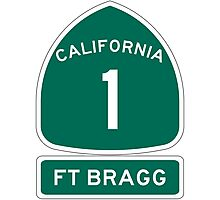 PCH - CA Highway 1 - Ft Bragg  Photographic Print