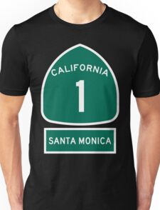PCH - CA Highway 1 - Santa Monica Unisex T-Shirt