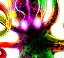 Rainbow Octopus Glow Sticker