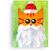 Christmas Red Cat Santa Canvas Print