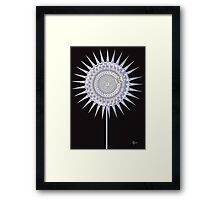 Art Deco Bloom No. 4 Lavender Sun Flower Framed Print