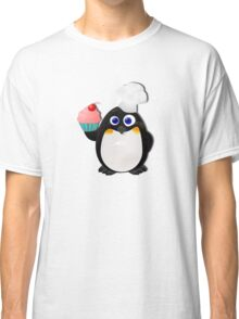 Baker Penguin With Cupcake Classic T-Shirt