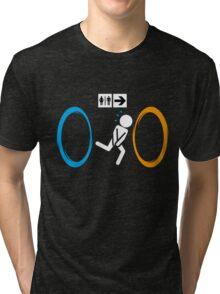 Portal toilet Tri-blend T-Shirt