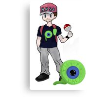 Jacksepticeye Pokemon Trainer Canvas Print