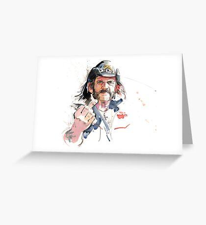 Lemmy. Lead singer of Motorhead. Greeting Card