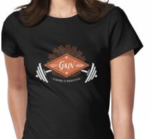 Lift. Gain. Grow. Womens Fitted T-Shirt