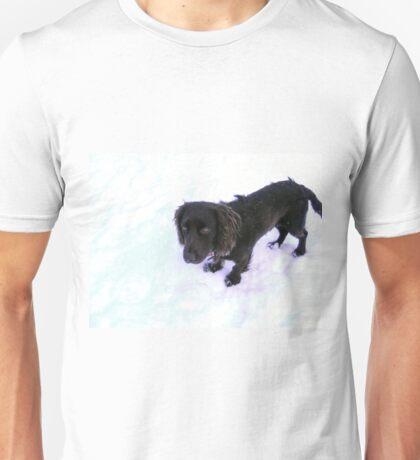 Winter Cocker Spaniel. Unisex T-Shirt