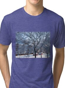 A Winter Street Scene Tri-blend T-Shirt