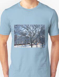 A Winter Street Scene Unisex T-Shirt
