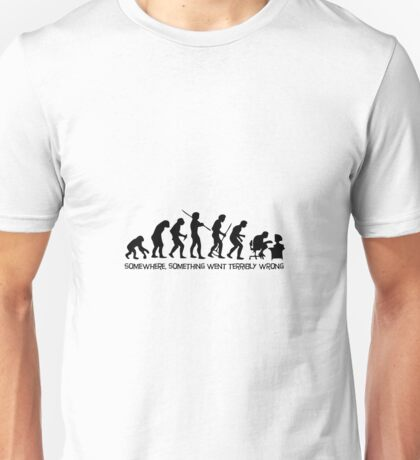 The evolution of man Unisex T-Shirt
