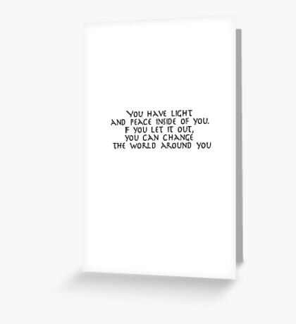 Iroh quote 1 Greeting Card