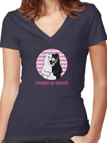 Powered By Despair Women's Fitted V-Neck T-Shirt