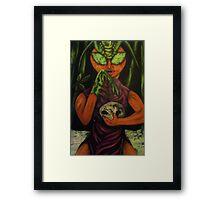 """""""Miss Morphing Mantis"""" Framed Print"""