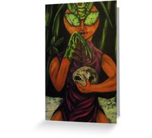 """Miss Morphing Mantis"" Greeting Card"