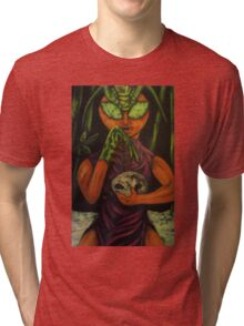 """Miss Morphing Mantis"" Tri-blend T-Shirt"