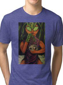 """Miss Morphing Mantis"" Tri-blend T-Shirt"
