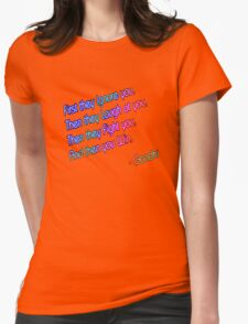 quotes Womens Fitted T-Shirt