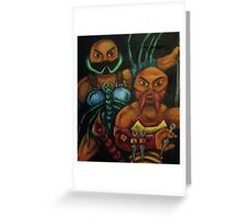 """""""The Stinging Storm II (Geared for War) Greeting Card"""