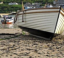 Boat On The Beach, St Ives Harbour by Rod Johnson