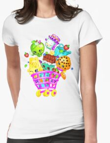 Shopkins basket Womens Fitted T-Shirt