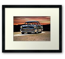 1957 Chevrolet Bel Air 'Serious Business' I Framed Print