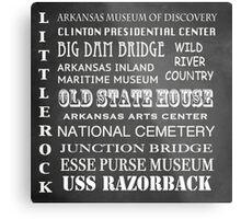 Little Rock Famous Landmarks Metal Print