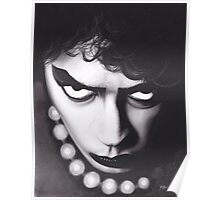 Realism Charcoal Drawing of Tim Curry as Frank N Furter in Rocky Horror Picture Show Poster