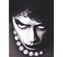 Realism Charcoal Drawing of Tim Curry as Frank N Furter in Rocky Horror Picture Show Photographic Print