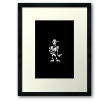 """Undertale: Papyrus """"Cool dude"""" Framed Print"""